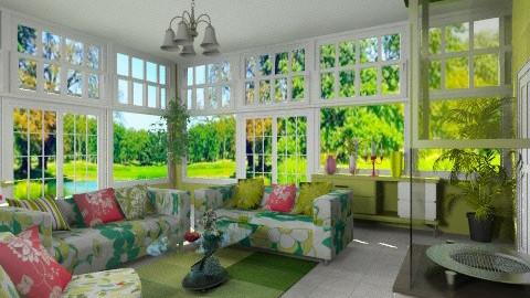 Round Heart Fireplace - Modern - Living room  - by Bibiche