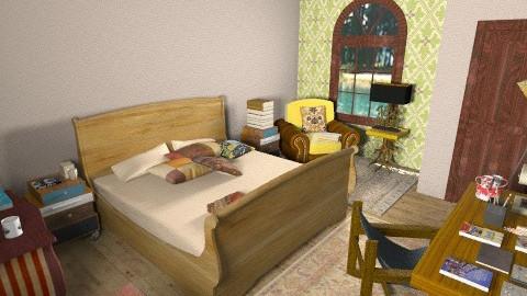 Reading Room - Rustic - Bedroom  - by beabiabolhas
