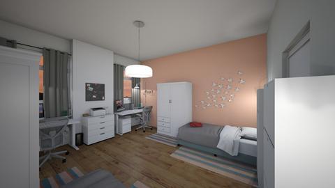student dorm - Bedroom  - by Zelena_