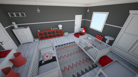 twin boys - Kids room - by chelseajade