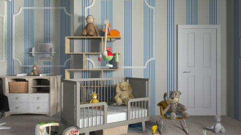 Rich baby Boy - Classic - Kids room  - by dipselvic