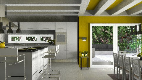 Sunflower - Modern - Kitchen  - by KittiFarkas