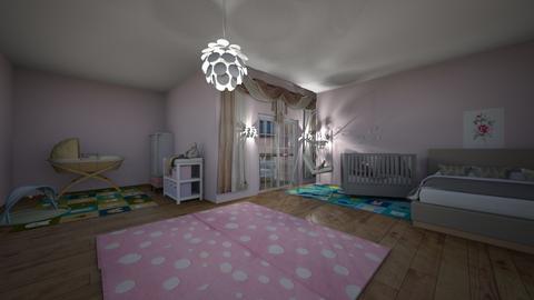 Welcome home baby girl - Feminine - Kids room  - by Oyisha