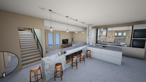 DesignTestIslandFireplace - Modern - Kitchen - by helsewhi