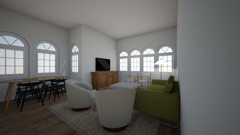 305 Living Room GreenSofa - Living room  - by allielevanway