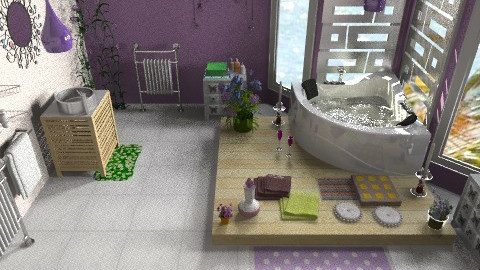 purple bathroom - Eclectic - Bathroom  - by CARMEND70
