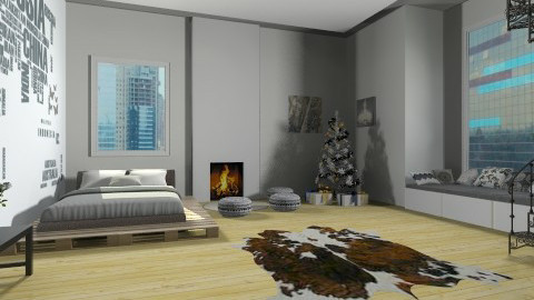 bedroom bw 2 - by marijnv99