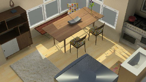 Kitchen and Dining Space 345 - Dining Room  - by michaelgirl