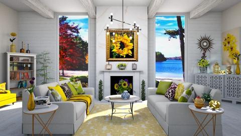 sunflower living - Living room  - by  krc60