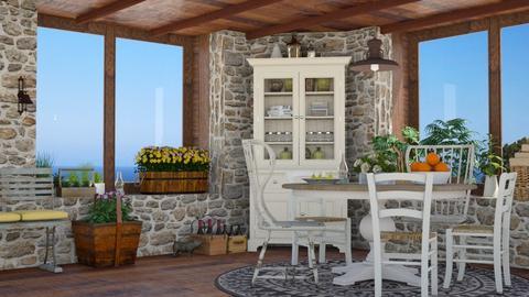 Oceanside Cottage - Kitchen  - by GraceKathryn