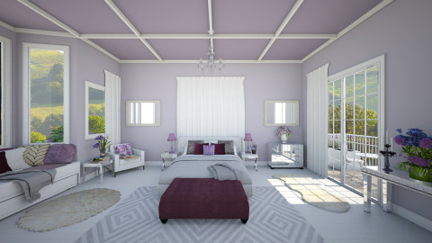 purple - Glamour - Bedroom  - by Ali Ruth