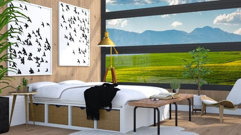 Farmhouse Bed - Country - Bedroom  - by millerfam