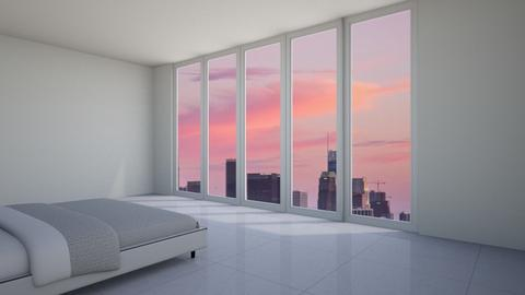 NYC High Rise Bedroom - Minimal - Bedroom  - by livai bean