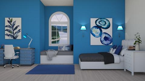 Feeling Blue - Bedroom  - by LaylaaaarrrJF