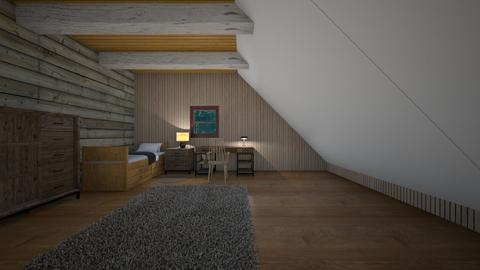 Sloping Lodge Loft - Bedroom  - by mspence03