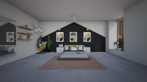 Playful Modern Bedroom - Modern - Bedroom  - by helsewhi