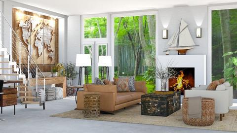Travel Theme Living Rm 2 - Living room  - by jjp513