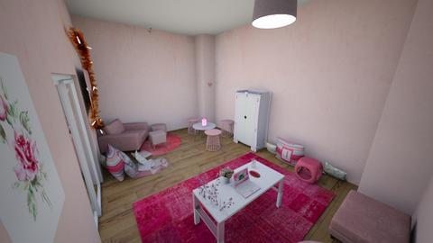 Pink Girls Bedroom - Bedroom - by Cattastrophy