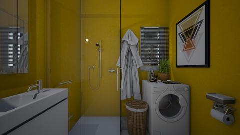 yellow - Bathroom - by Grigoria Popli