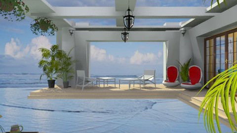Terrace on the ocean - Modern - Garden - by Bibiche