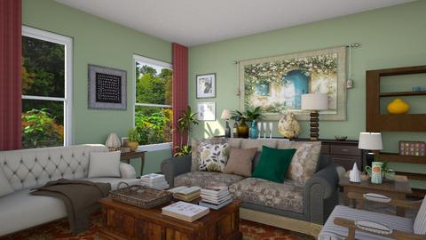 Green living - Living room  - by abzzicles