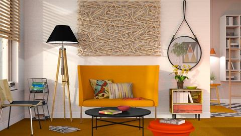Orange Carpet - Modern - Living room  - by Sally Simpson