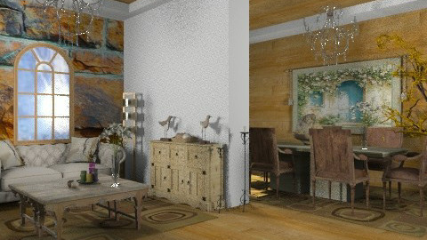 klll - Rustic - Living room  - by Cejovic Andrijana