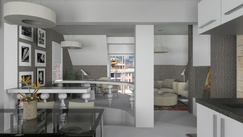 My house renovation - Modern - Dining room  - by liling