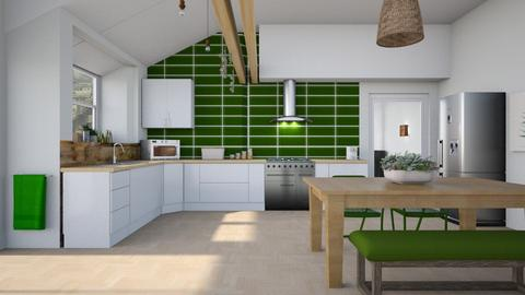 Green tiles - Kitchen  - by augustmoon