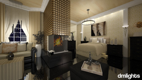 black - Glamour - Bedroom  - by DMLights-user-981898