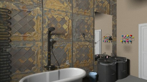 Bathroom1 - Vintage - Bathroom  - by GINAME