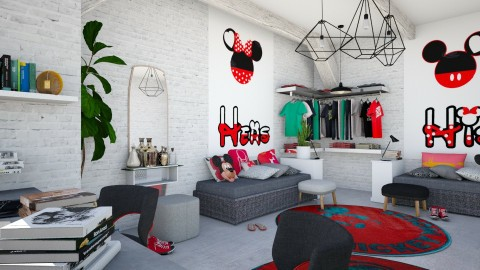 Loft mouse - Kids room  - by chania