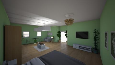 Sage green  - Modern - Bedroom  - by natalieeyauu