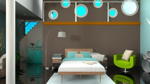 Flying in a blue dream - Eclectic - Bedroom  - by sara1233214567