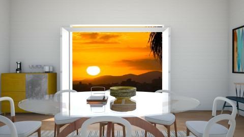 Brazilian Beach Home - Minimal - Dining room  - by love Tully love