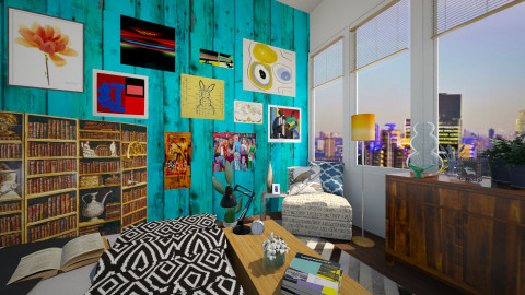 Electric Blue - Eclectic - Bedroom  - by smccauley029
