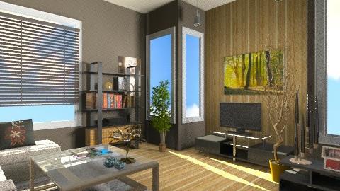 living room 1 - Modern - Living room - by luqdragon