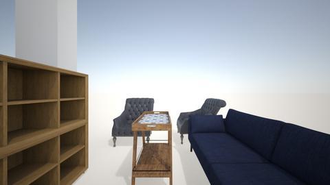 salon telewizor na srodk - Living room  - by dagilla