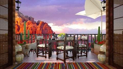 Design 144 Small Balcony Sedona - Garden  - by Daisy320