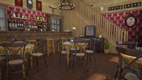 Western Saloon at Jim - Classic - by Nina Colin