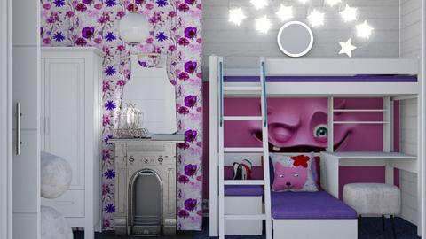 Monster under the bed - Feminine - Kids room - by augustmoon