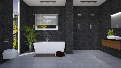 Dark bathroom - Modern - Bathroom - by evemorgan96