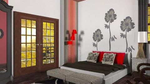 rosso - Eclectic - Bedroom  - by RobertaS