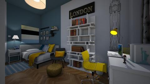 camera ragazzo - Bedroom  - by aliceyuma