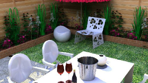 Modern outdoor dining - Modern - Garden  - by tiffanybs