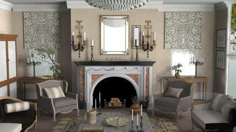 GeorgianGrandeur - Classic - Living room  - by Gunay_az
