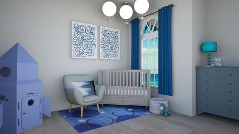 Blissfully Blue - Kids room - by beach2019