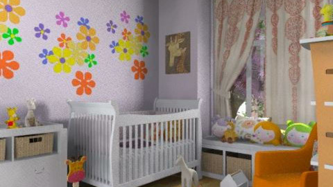 Naughty baby  - Modern - Kids room  - by alleypea
