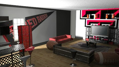 texas tech - Eclectic - Living room - by Lizette Najera