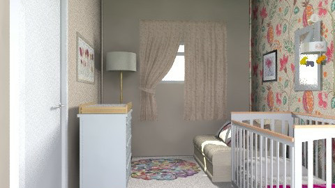 2nd Bedroom/Nursery for Matliy_View 1 - Classic - Bedroom  - by giulygi